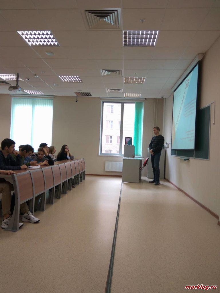 Редактор Денис Жильцов с мастер-классом для школьников