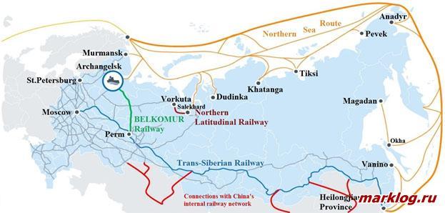 соединение инфраструктуры Северного морского пути с сетью железных дорог Китая